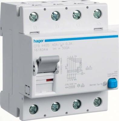 Hager FI-Schutzschalter 4P 40A 300mA B CFB440D