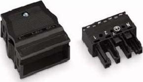 WAGO Kontakttechnik Buchse 2x0,5-4mmq schwarz 770-104