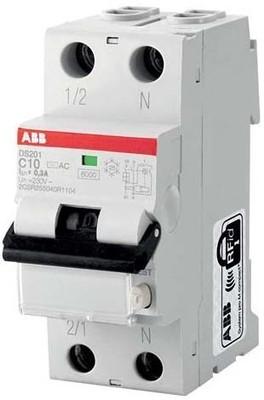 ABB Stotz S&J FI/LS-Schalter 6kA, 1p+N DS201A-B10/0,03