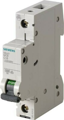 Siemens Indus.Sector LS-Schalter C16A 1pol 6kA 5SL6116-7