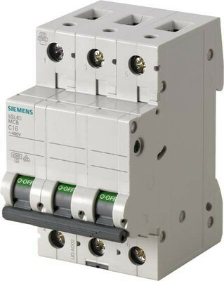 Siemens Indus.Sector LS-Schalter C16A, 3pol 5SL6316-7