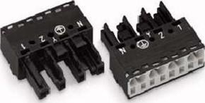 WAGO Kontakttechnik Buchse 2x0,5-4mmq schwarz 770-204