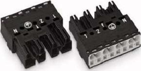 WAGO Kontakttechnik Stecker 2x0,5-4mmq schwarz 770-214