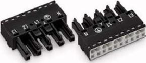 WAGO Kontakttechnik Buchse 2x0,5-4mmq schwarz 770-205