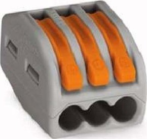 WAGO Kontakttechnik Verbindungsklemme 3x0,08-4qmm gr 222-413