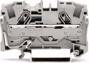WAGO Kontakttechnik Durchgangsklemme 0,5-6/10qmm grau, 2L 2006-1201