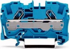 WAGO Kontakttechnik Durchgangsklemme 0,5-6/10qmm blau, 2L 2006-1204