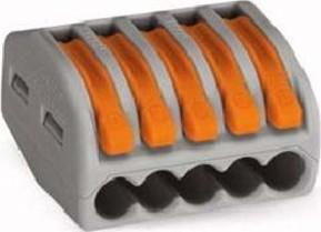 WAGO Kontakttechnik Verbindungsklemme 5x0,8-4qmm gr 222-415