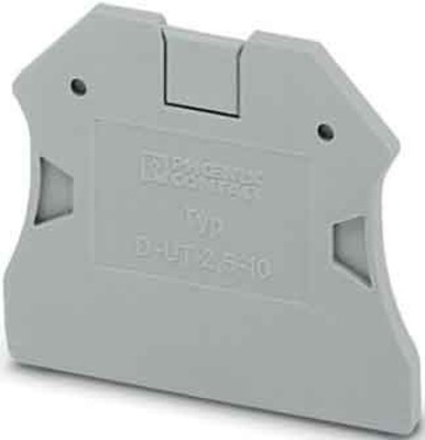 Phoenix Contact Abschlussdeckel 47,7x2,2x48,4mm gr D-UT 2,5/10