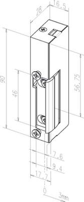Assa Abloy effeff Türöffner ohne Schliessblech 19E DIN L/R o.S.