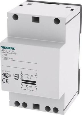 Siemens Indus.Sector Sicherheitstransformator 230VAC 50Hz 8V 4AC3724-0