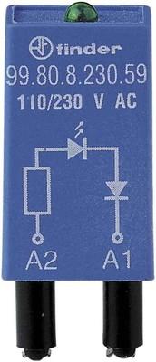 Finder LED gn + Diode 6.. 24VDC f.Fas. 94.82/83/84 99.80.9.024.99