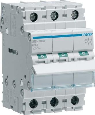 Hager Ausschalter 3P 63A SBN363