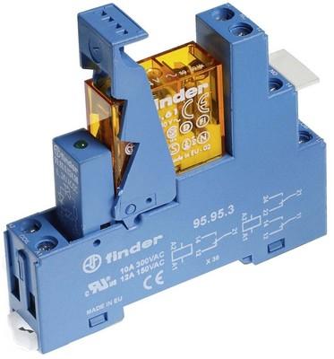 Finder Koppelrel.Gold-K.230VAC2We m.Fas.+LED+Vari. 49.52.8.230.5060