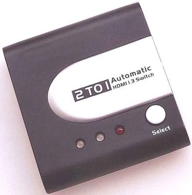 E+P Elektrik HDMI-Automatikumschalter 2 auf 1, sw/si HDMS21
