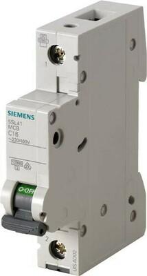 Siemens Indus.Sector Leitungsschutzschalter 230V,10KA,1p.,B,16A 5SL4116-6