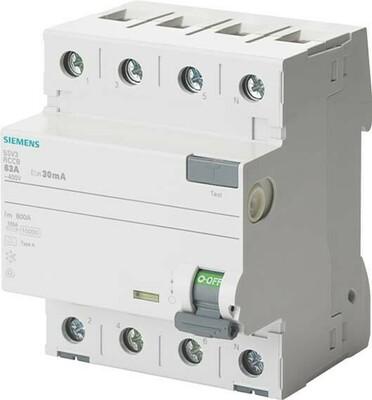 Siemens Indus.Sector FI-Schutzschalter 40A,3+N,30mA,400V 5SV3344-6