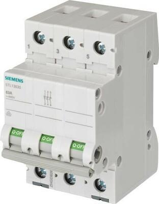 Siemens Indus.Sector Ausschalter 63A,3pol. 5TL1363-0