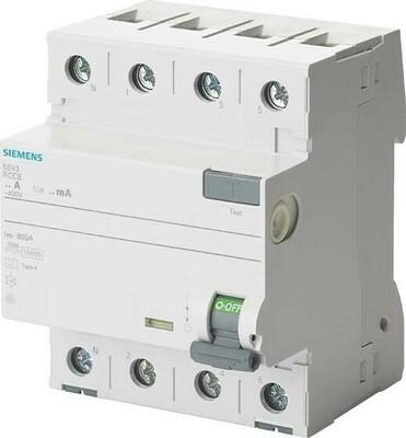 Siemens Indus.Sector FI-Schutzschalter 40A,3+N,30mA,400V 5SV3344-6KL