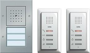Gira Zweifam.haus-Paket Audio aluminium 049544