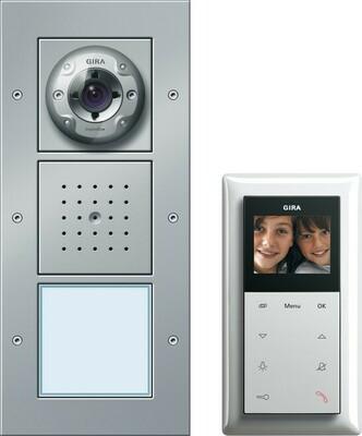 Gira Einfam.haus-Paket Video aluminium 049545