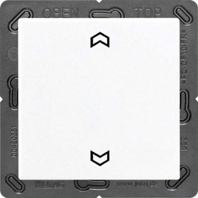Jung Funk-Wandsender weiß 2-kanalig Symbole ENO A 590 P