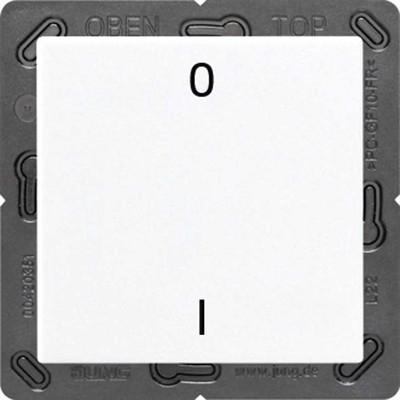 Jung Funk-Wandsender weiß 2-kanalig Symbole ENO A 590-01