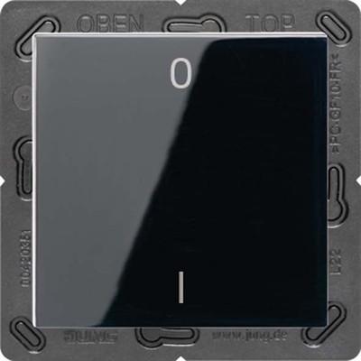 Jung Funk-Wandsender schwarz 2-kanalig Symbole ENO A 590-01 SW