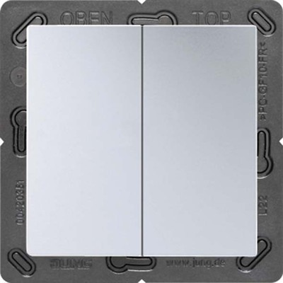 Jung Funk-Wandsender aluminium 4-kanalig ENO A 595 AL