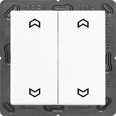 Jung Funk-Wandsender weiß 4-kanalig Symbole ENO A 595 MP