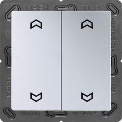 Jung Funk-Wandsender aluminium 4-kanalig Symbole ENO A 595 MP AL
