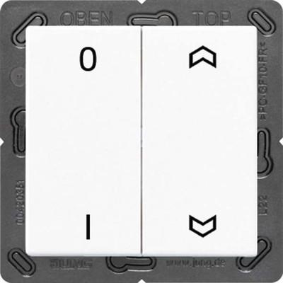 Jung Funk-Wandsender weiß 4-kanalig Symbole ENO A 595 P01