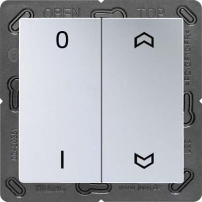 Jung Funk-Wandsender aluminium 4-kanalig Symbole ENO A 595 P01 AL