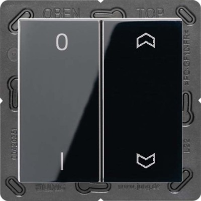 Jung Funk-Wandsender schwarz 4-kanalig Symbole ENO A 595 P01 SW