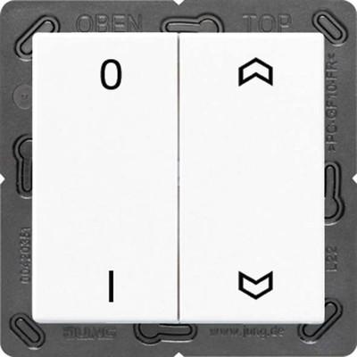 Jung Funk-Wandsender alpinweiß 4-kanalig Symbole ENO A 595 P01 WW