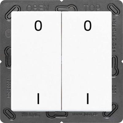 Jung Funk-Wandsender weiß 4-kanalig Symbole ENO A 595-01