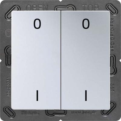 Jung Funk-Wandsender aluminium 4-kanalig Symbole ENO A 595-01 AL