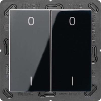 Jung Funk-Wandsender schwarz 4-kanalig Symbole ENO A 595-01 SW