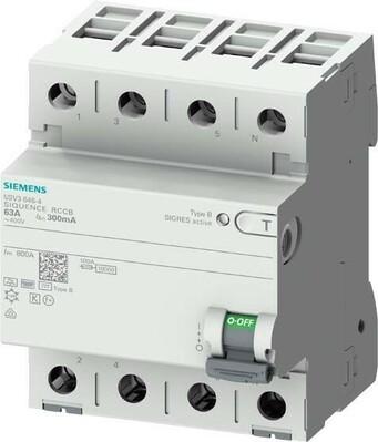 Siemens Indus.Sector FI-Schutzschalter B 40/4 30MA 4TE 5SV3344-4
