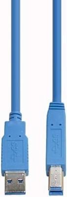 E+P Elektrik USB3.0 Verbindungskabel AB 2,5m,blau CC302/2