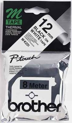 Brother Schriftbandkassette BF.weiß/DF. schwarz M-K231S