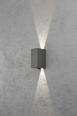 Gnosjö Konstsmide AL LED-Wandleuchte anth/alu Lichtaustr.verstellb 7940-370