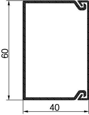 Rehau Elektro.Inst. METRA Verdrahtungskanal OT 40mm V5K,RAL7030 VDK OT40 sgr