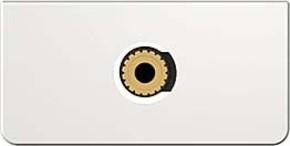 Kindermann Anschlussblende Kon.Design click,Audio/Klinke 7456000511