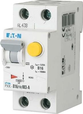 Eaton FI/LS-Kombischalter B 16A 1p+N, 30mA PXK-B16/1N/003-A