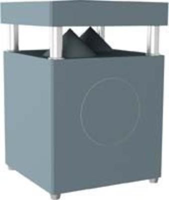 WHD Außenlautsprecher 2x25W,WLAN-Receiver GL100WR beton-gr