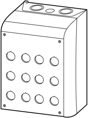 Eaton (Moeller) Aufbaugehäuse f.12 Taster 22mm M22-I12