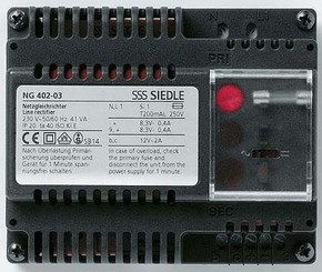Siedle&Söhne Netzgleichrichter 230V/12VAC - 8,3VDC NG 402-03