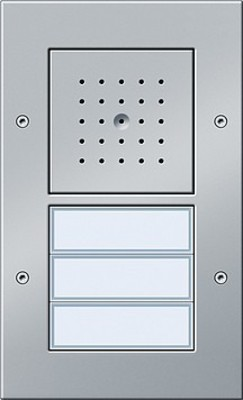 Gira Türstation AP 3-fach ch aluminium 126765