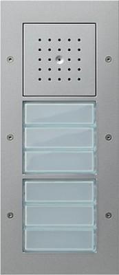 Gira Türstation AP 6fach aluminium 126865